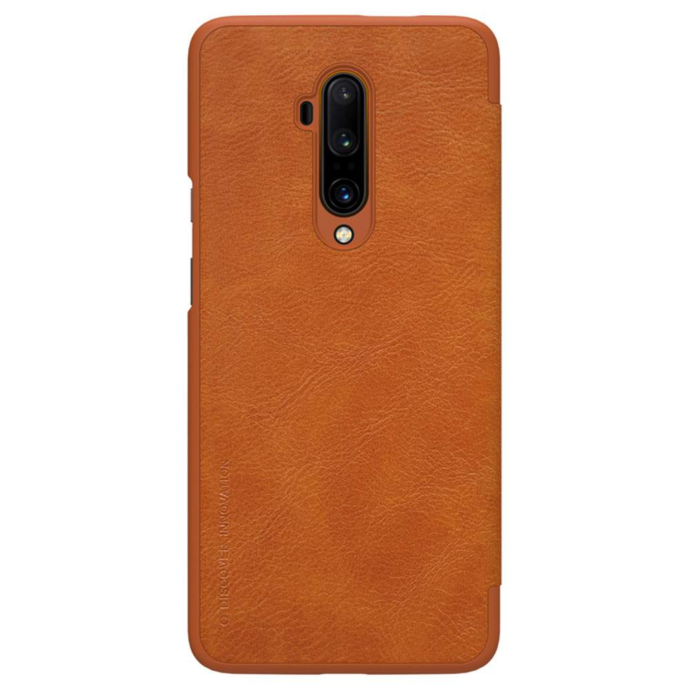 NILLKIN Protective Leather Phone Case For Oneplus 7T Pro Smartphone - Brown