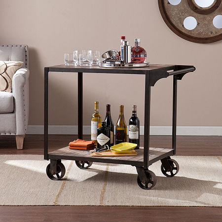 Dayne Bar Cart, One Size , Black