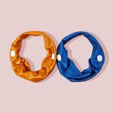 2pcs Polka Dot Pattern Headband