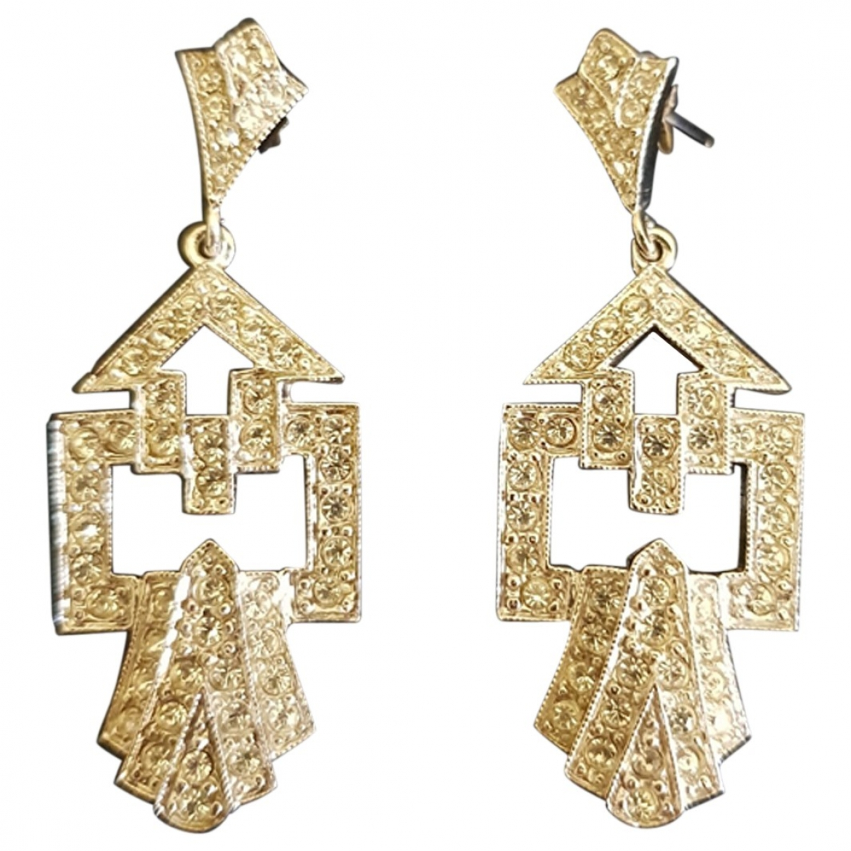 Non Signé / Unsigned Art Déco Silver Silver Earrings for Women \N