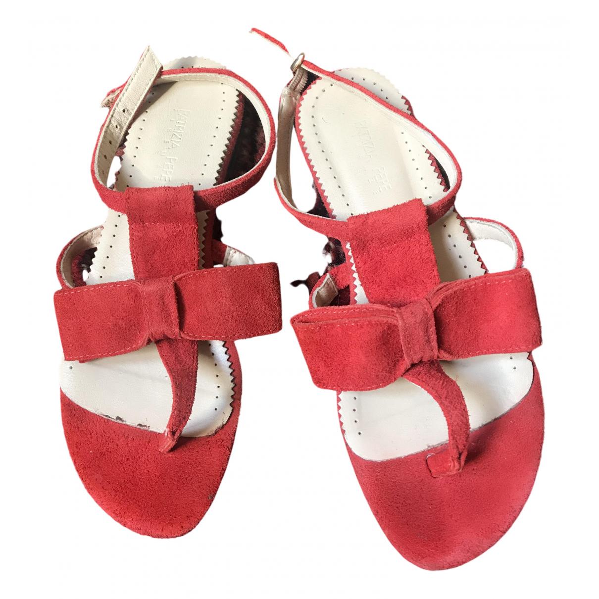 Patrizia Pepe \N Sandalen in  Rot Leder