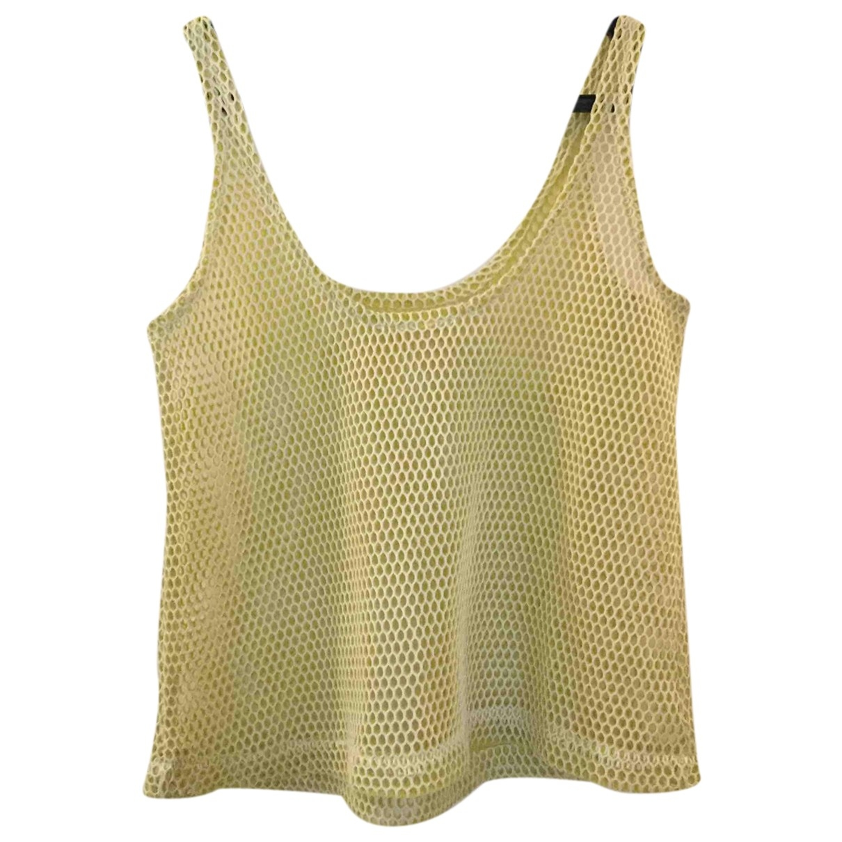 Non Signe / Unsigned \N Top in  Gelb Polyester