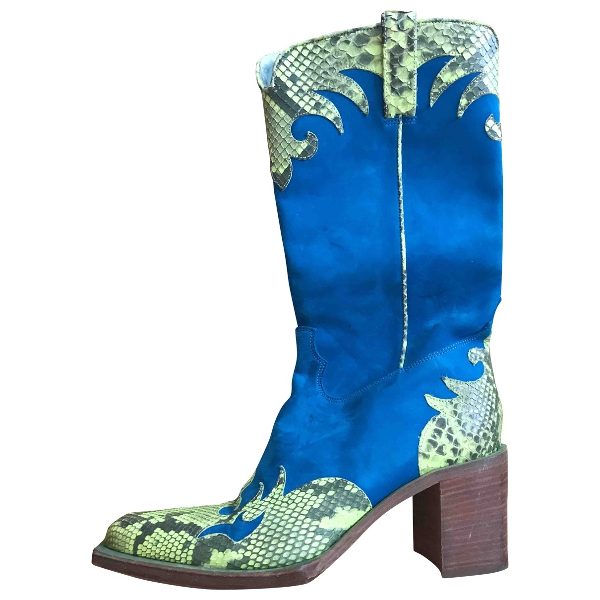 Free Lance \N Turquoise Python Boots for Women 37 EU