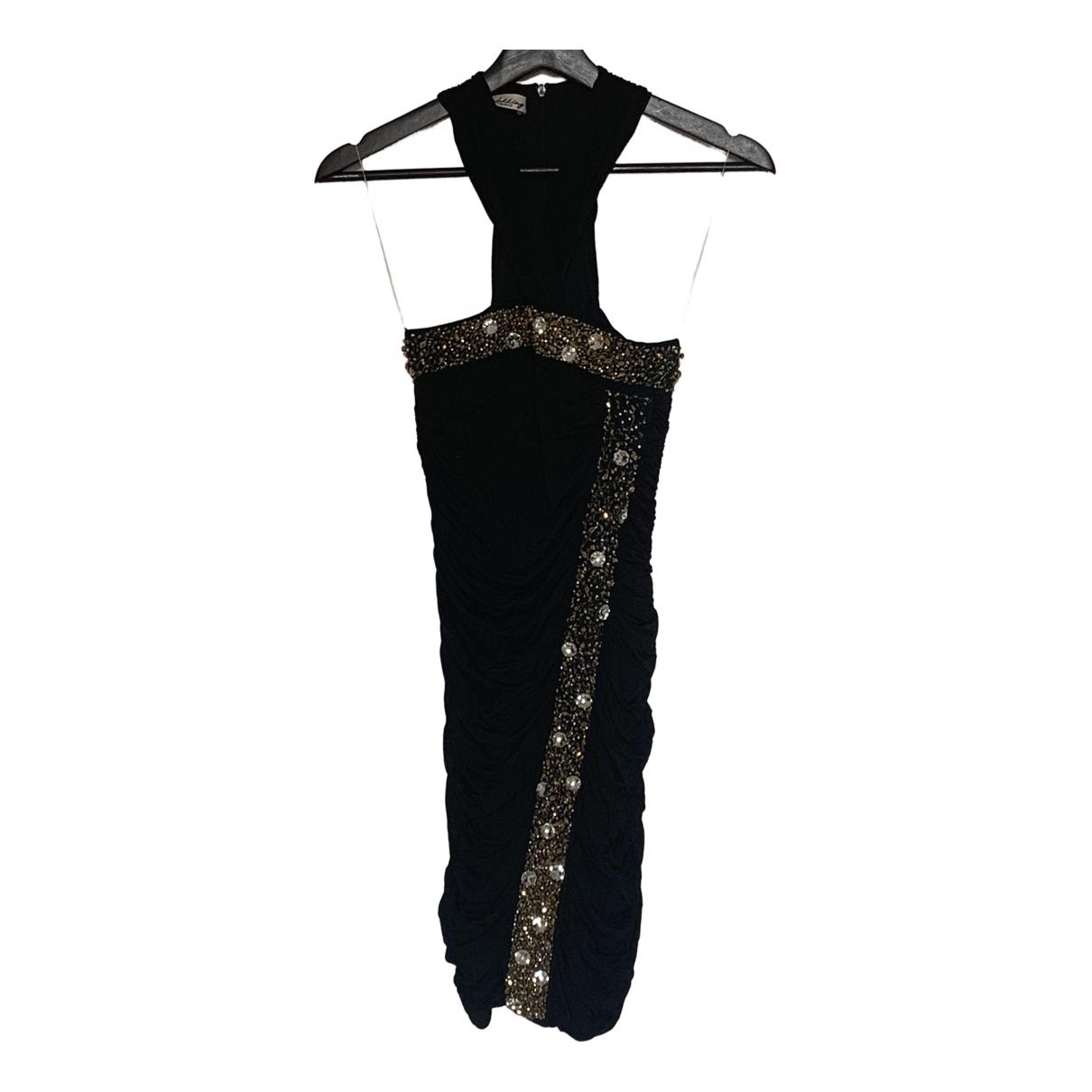 Pinko - Robe   pour femme en coton - elasthane - noir