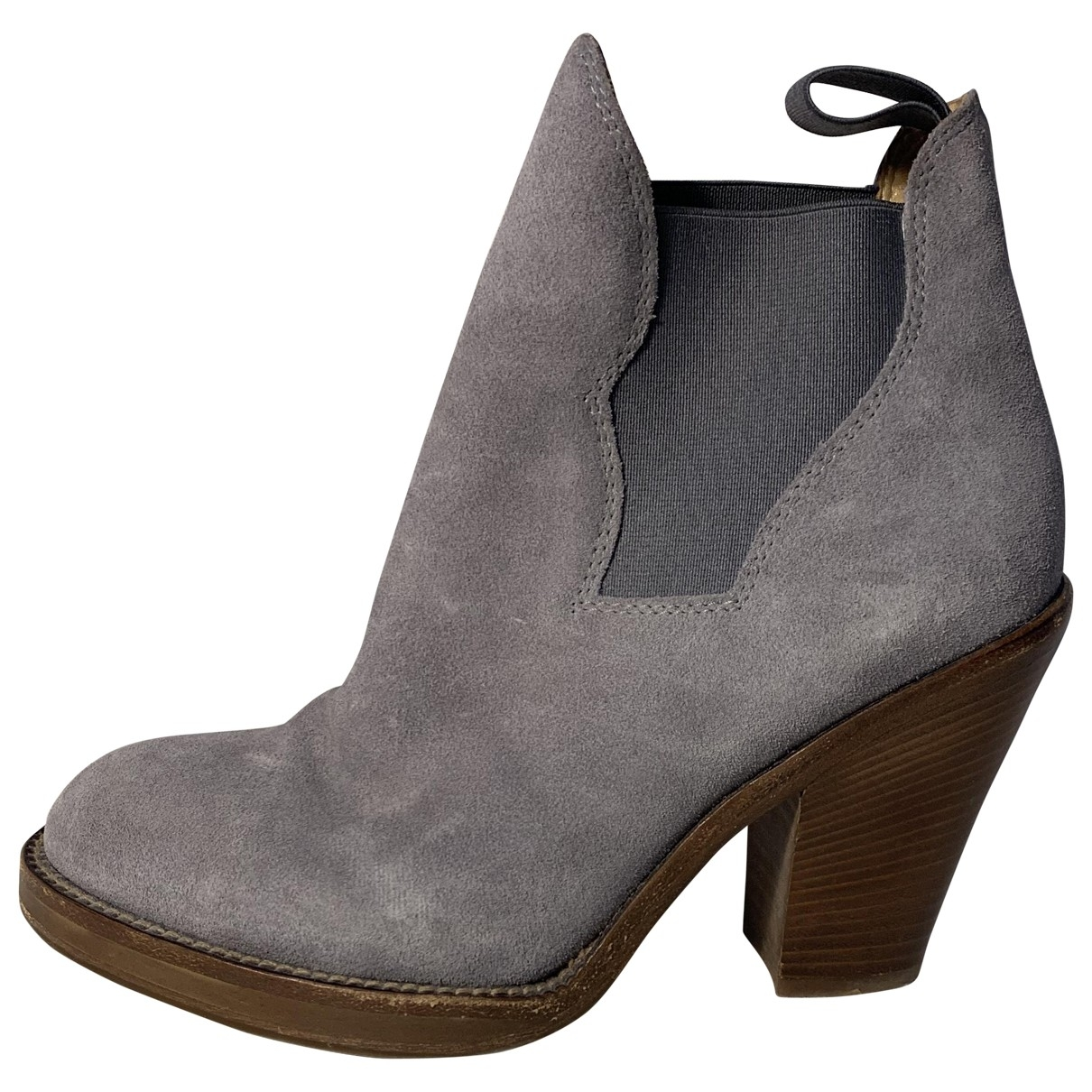 Acne Studios Star Grey Suede Ankle boots for Women 36 EU