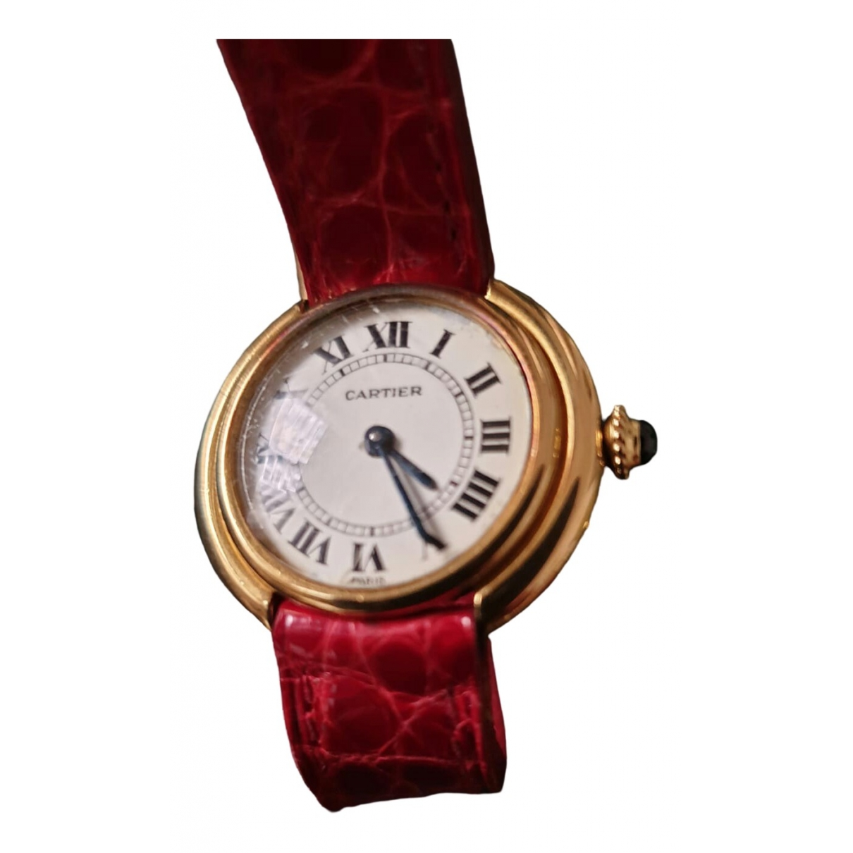 Cartier Must Vendome  Uhr in  Rot Gelbgold