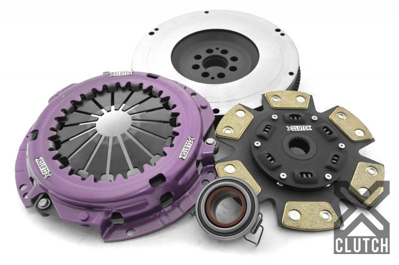 XClutch XKTY23593-1B Clutch Kit with Chromoly Flywheel Stage 2 Sprung Ceramic Clutch Disc