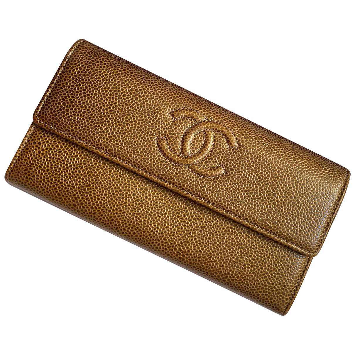 Chanel \N Portemonnaie in  Gold Leder