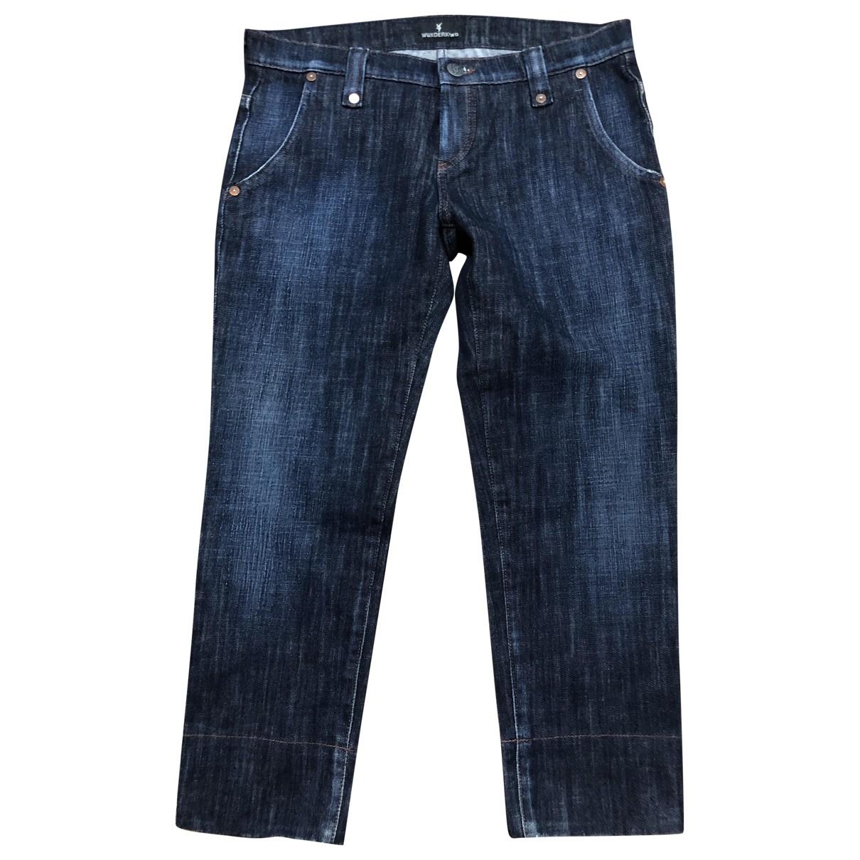 Wunderkind \N Blue Denim - Jeans Jeans for Women 36 FR