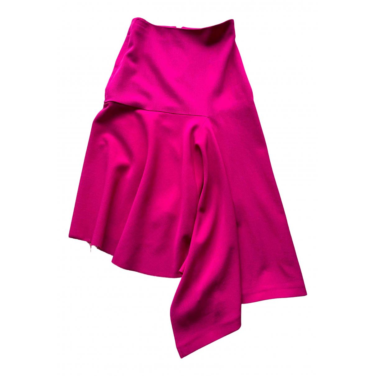 Balenciaga - Jupe   pour femme en laine - rose