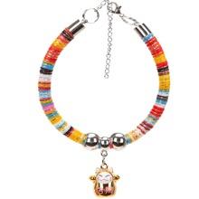 1 Stueck Katzenhalsband mit Glocke Dekor