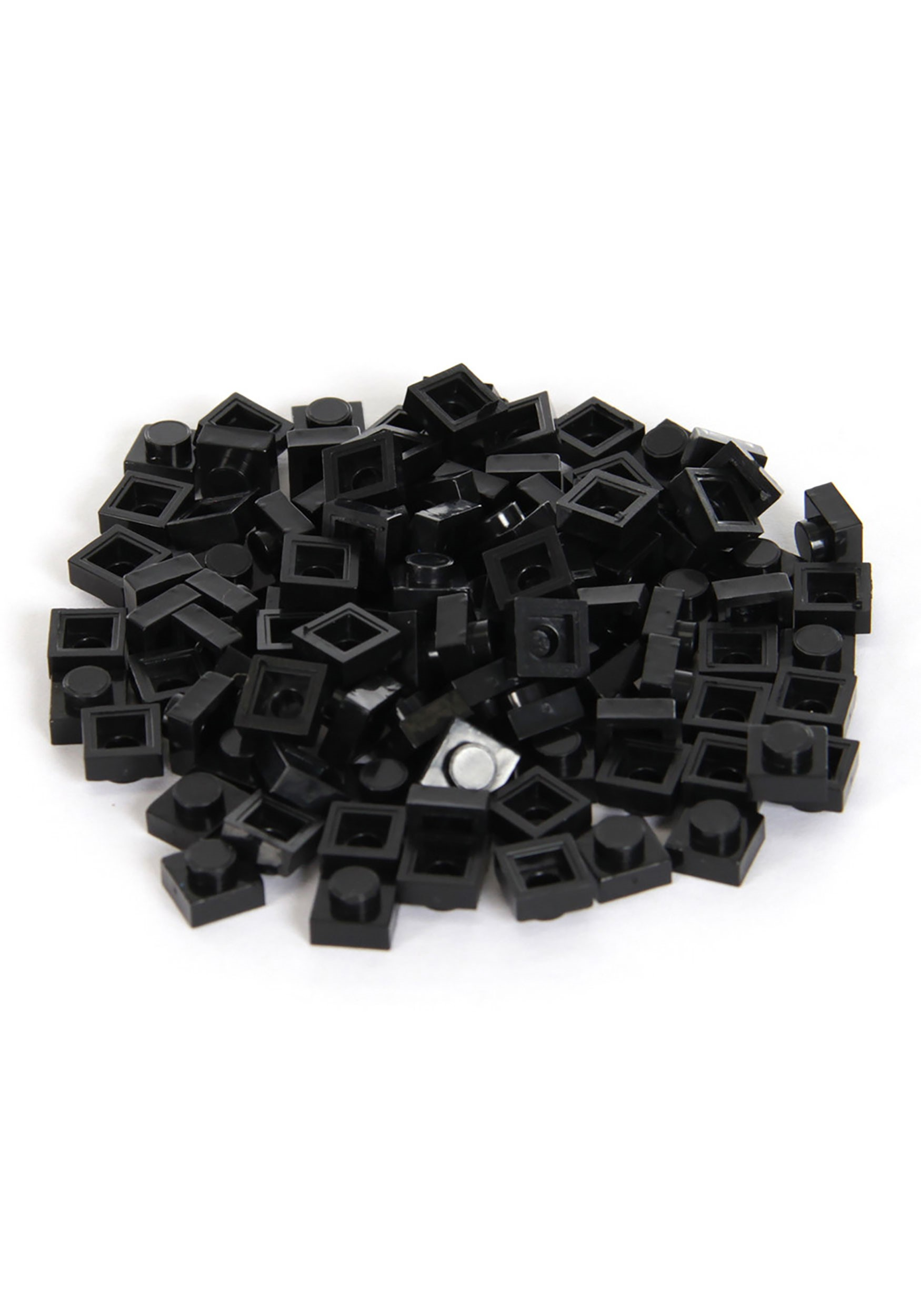 Black Bricky Blocks 100 Pieces 1x1