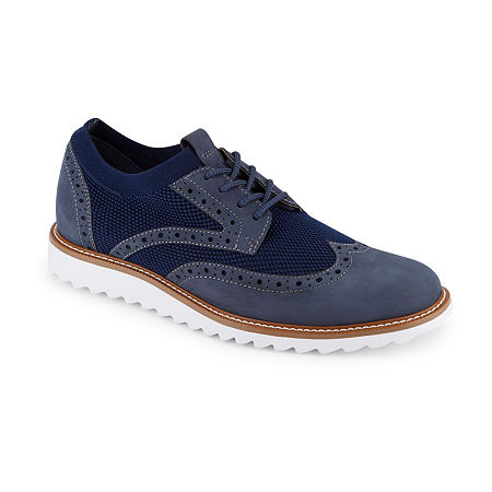 Dockers Smart Series Mens Hawking Lace-up Wing Tip Oxford Shoes, 9 Medium, Blue