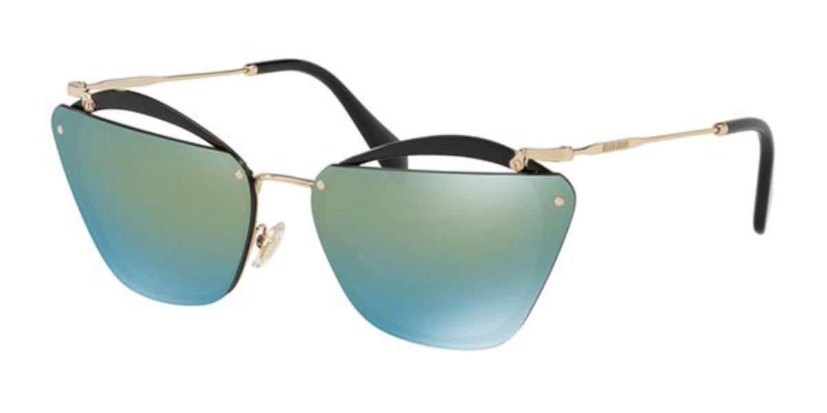Miu Miu MU54TS 1AB4J2 Women's Sunglasses Black Size 64