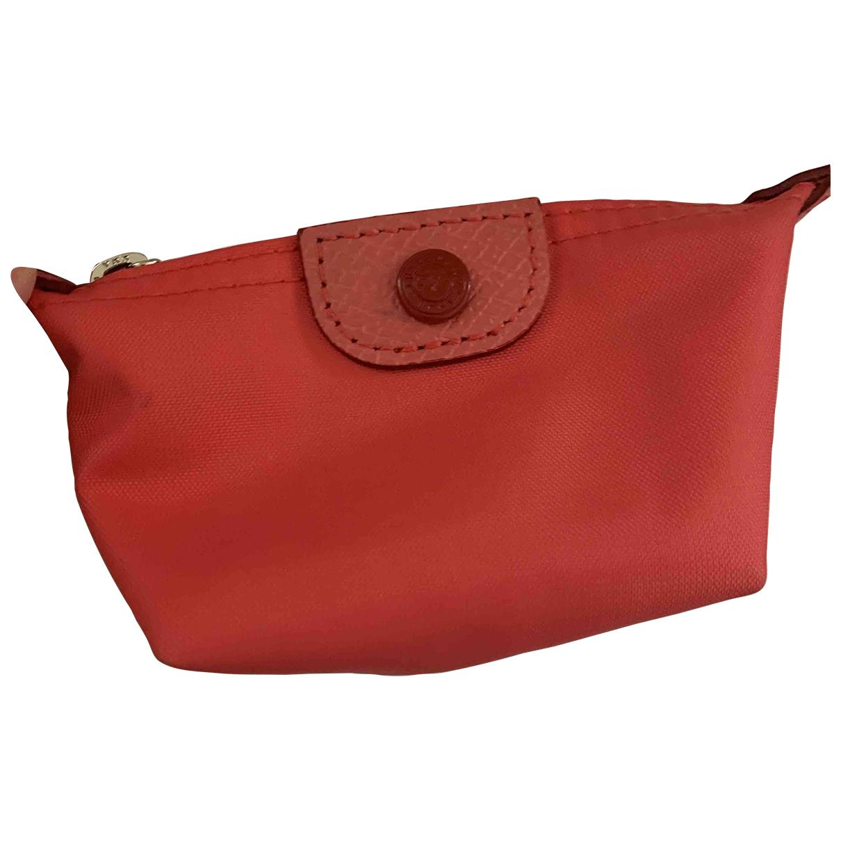 Longchamp \N Portemonnaie in  Rosa Leinen