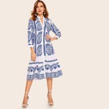 Vestido estilo blusa con estampado tribal