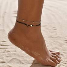 2pcs Star Chain Anklet