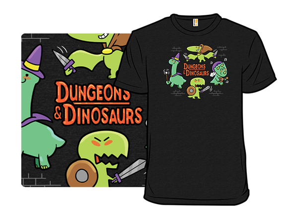 Dungeons And Dinos T Shirt