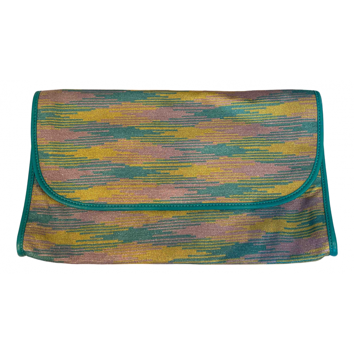 M Missoni \N Clutch in  Bunt Leinen