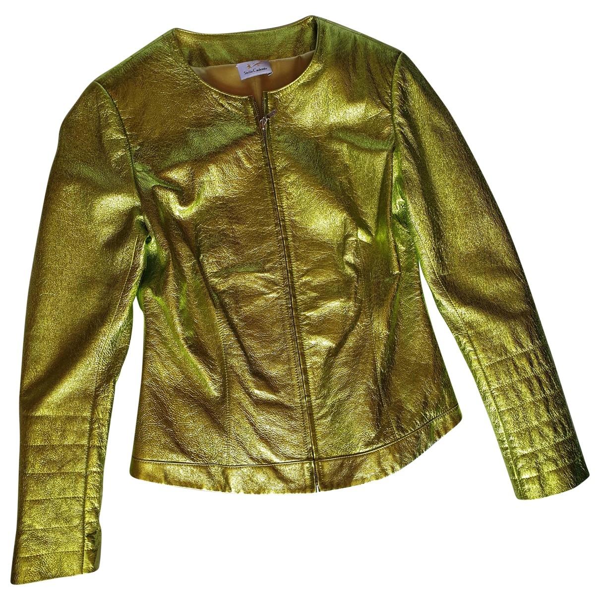 Stella Cadente \N Green Leather Leather jacket for Women 40 FR
