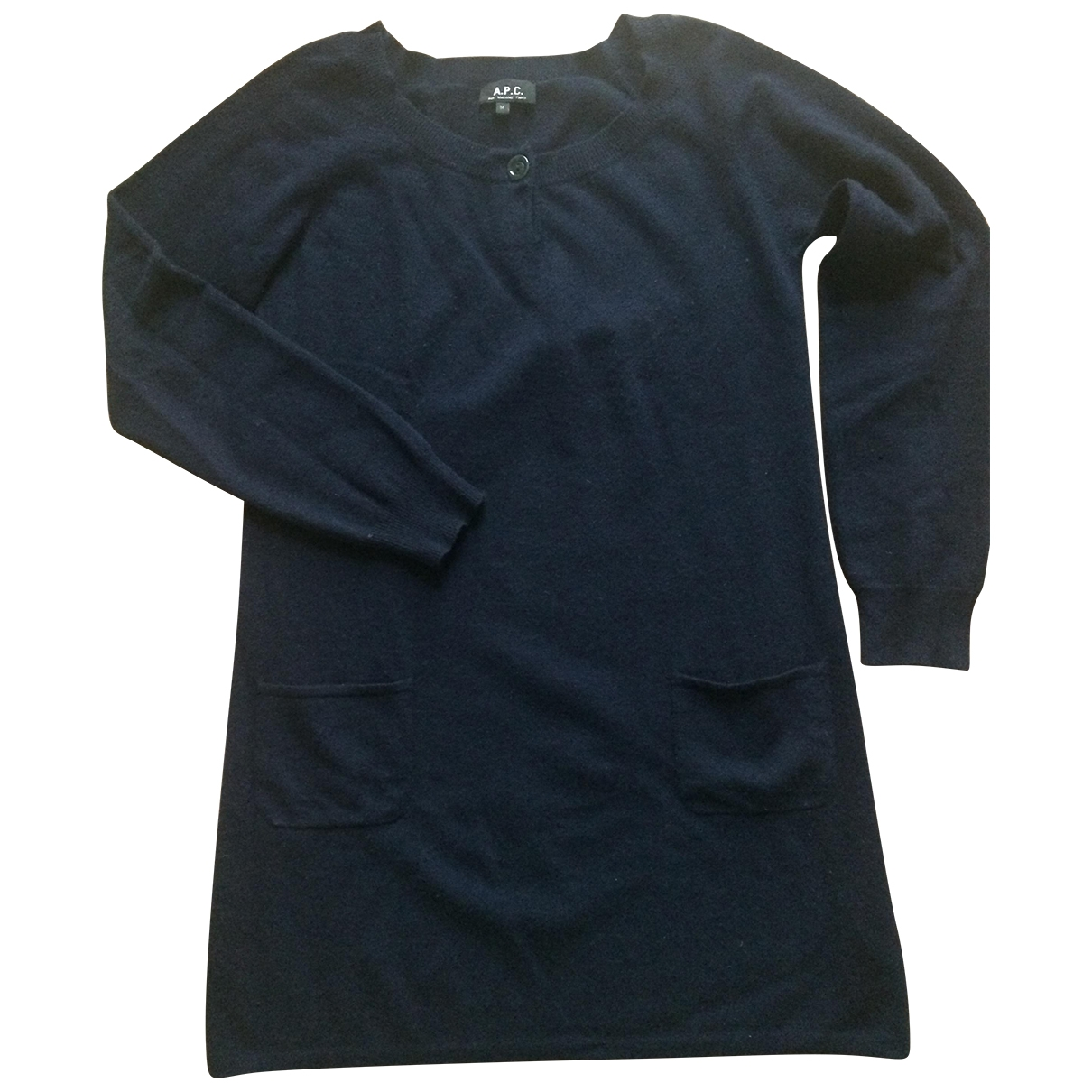 Apc \N Navy Wool dress for Women 40 FR