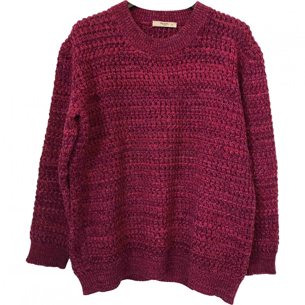 Prada \N Pullover.Westen.Sweatshirts  in  Rosa Wolle