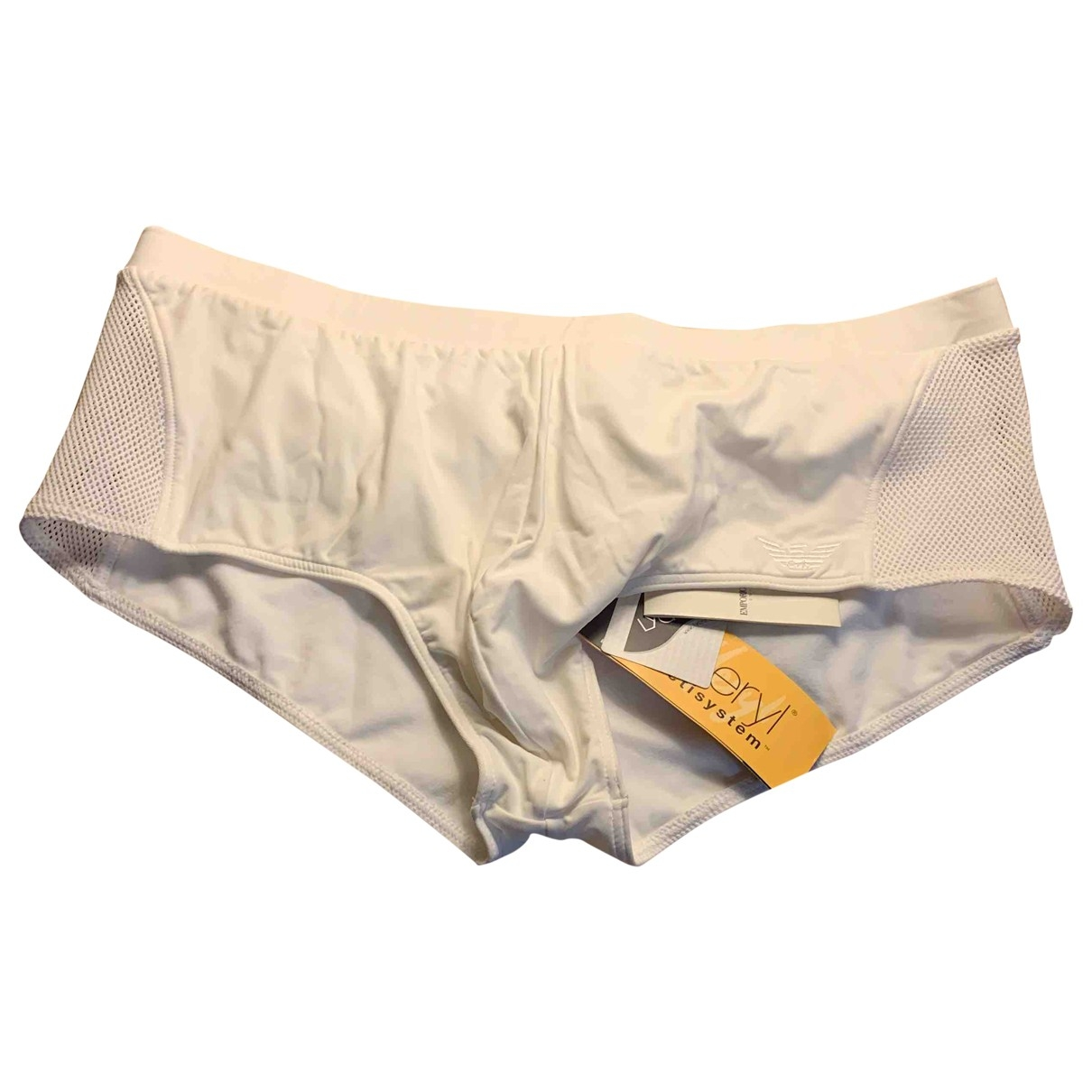 Emporio Armani \N Shorts in  Weiss Synthetik