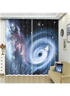 The Black Holes and Planets Blackout 3D Curtains