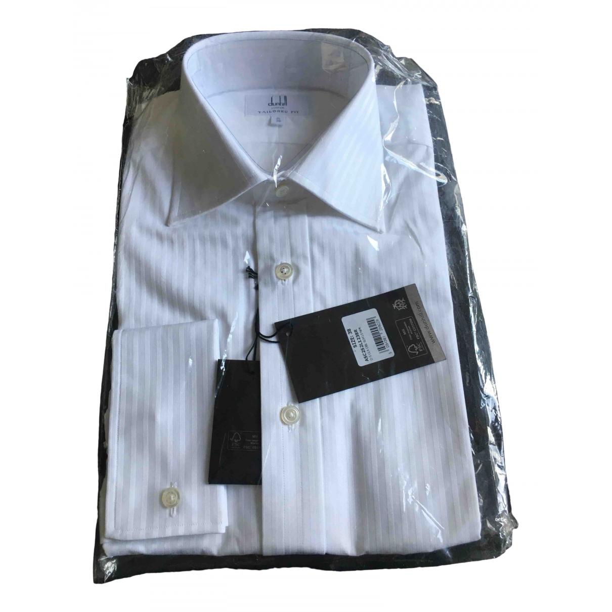 Alfred Dunhill - Chemises   pour homme en coton - blanc