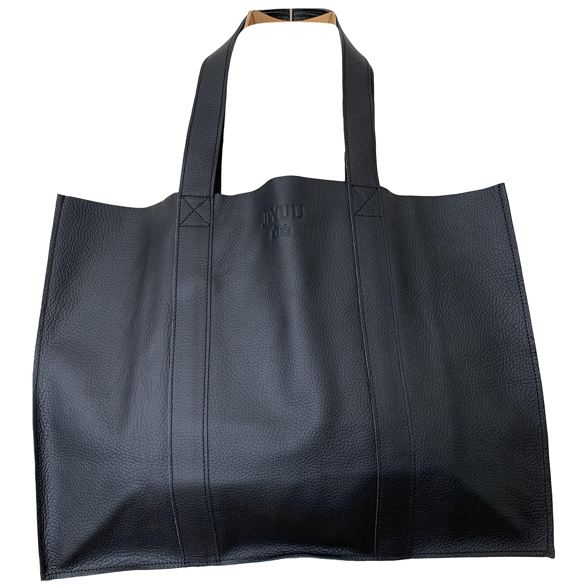 Non Signé / Unsigned \N Black Leather Travel bag for Women \N