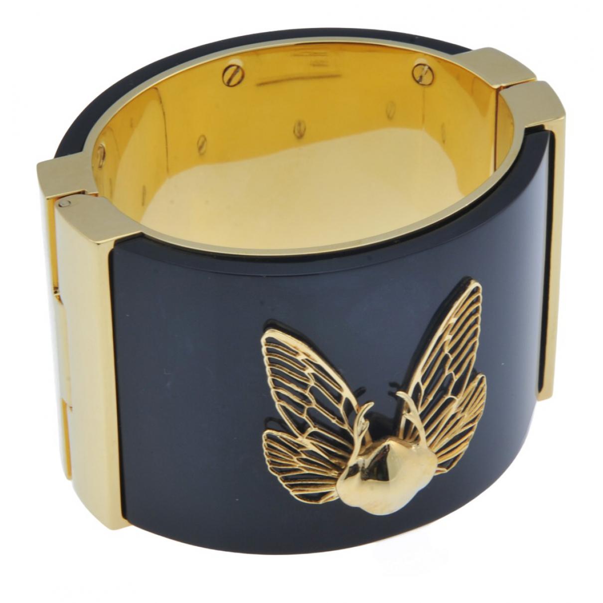- Bracelet   pour femme en plaque or - noir