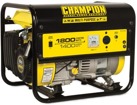 42432 1400-Watt Portable Generator with 80cc Engine  Cold Start Technology and CARB Compliant in Black and