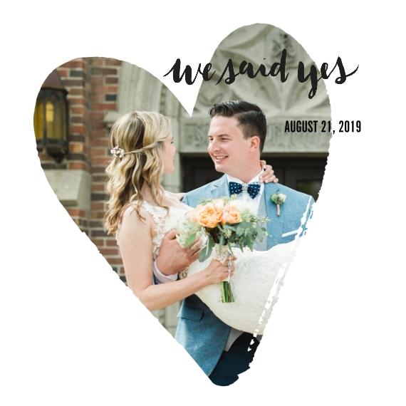 Wedding 12x12 Designer Print - Glossy, Prints -We Said Yes