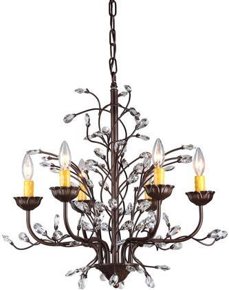 320245 Kinsley Wonderland 6-light Crystal/ Bronze Chandelier in