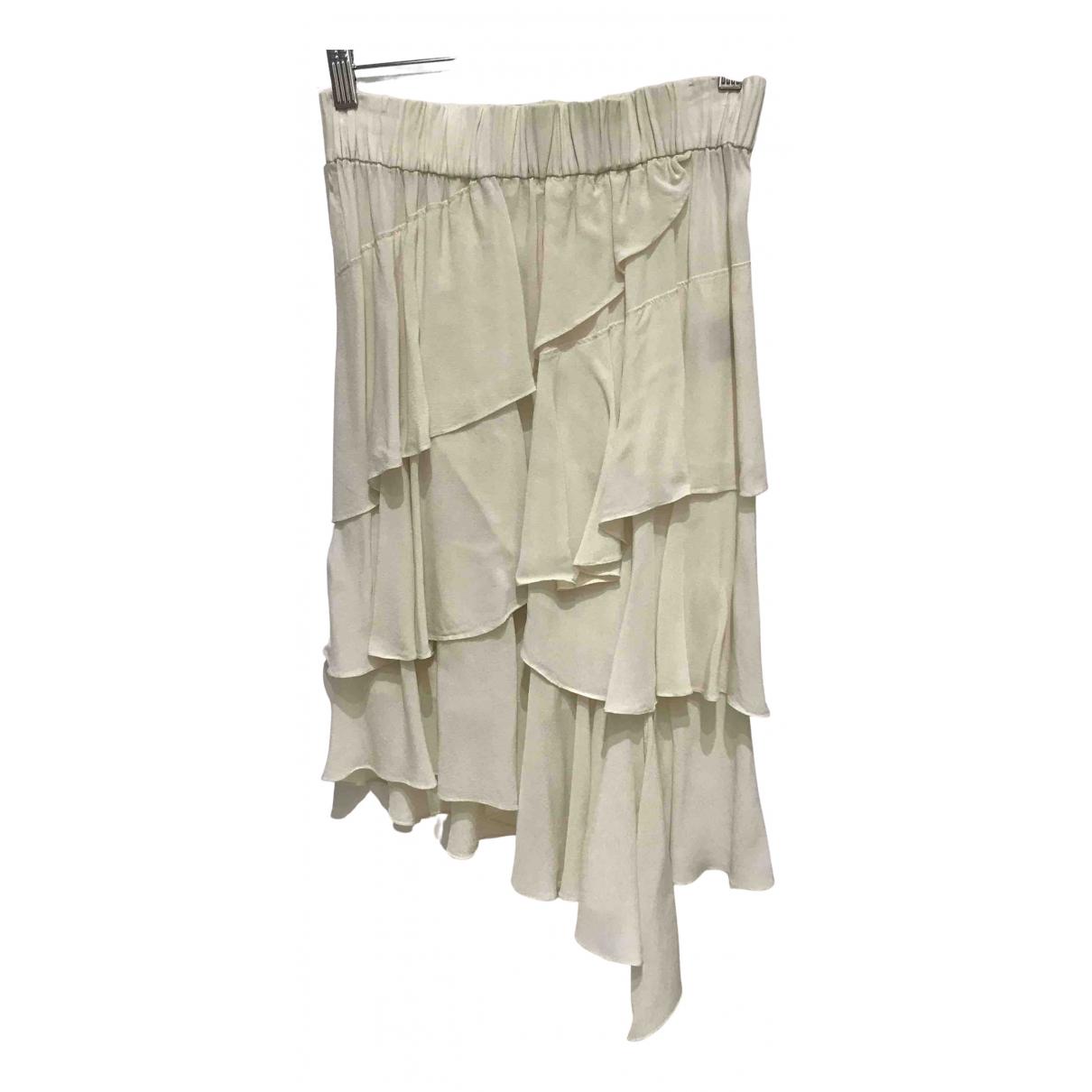 Isabel Marant Etoile - Jupe   pour femme en soie - ecru