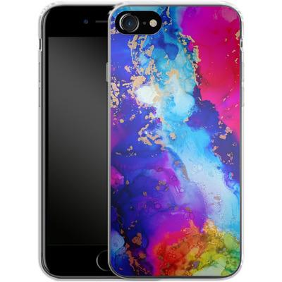 Apple iPhone 8 Silikon Handyhuelle - Cosmic Swirl II von Stella Lightheart