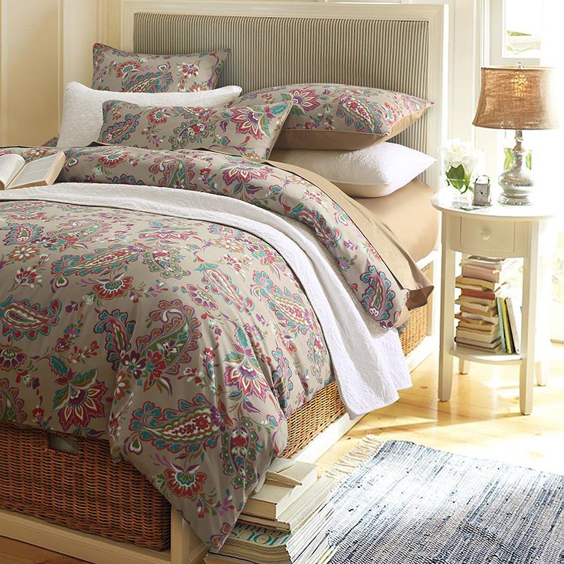 European Plant Reactive Printing Three-Piece Set Duvet Cover Set Polyester Bedding Sets 2 Pillowcases