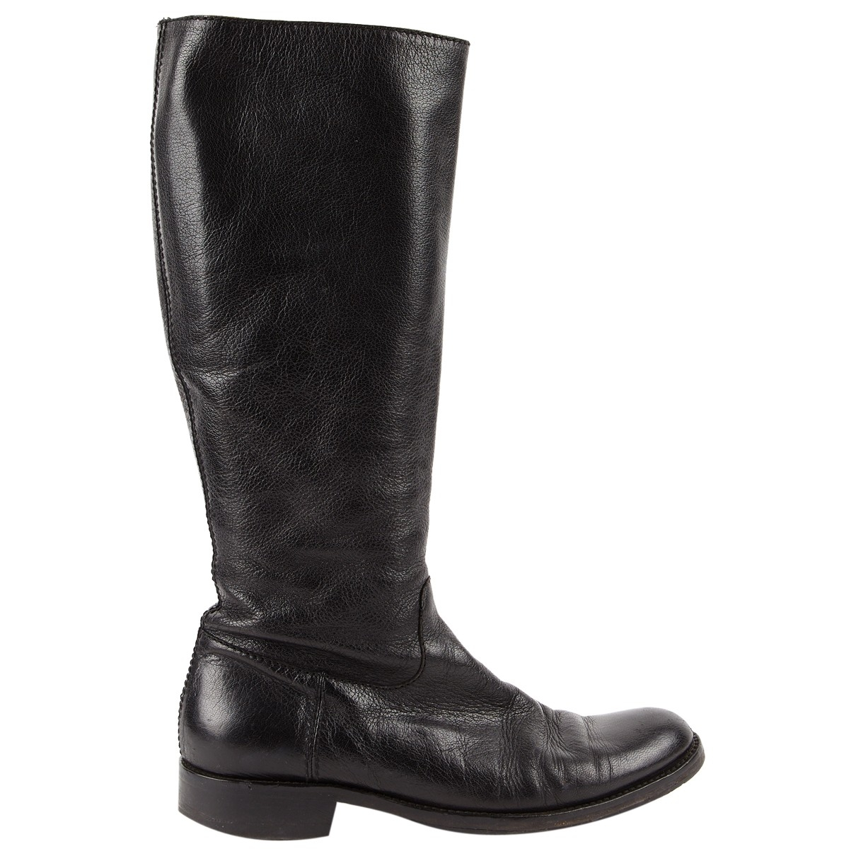 Moschino \N Black Leather Boots for Women 41 EU