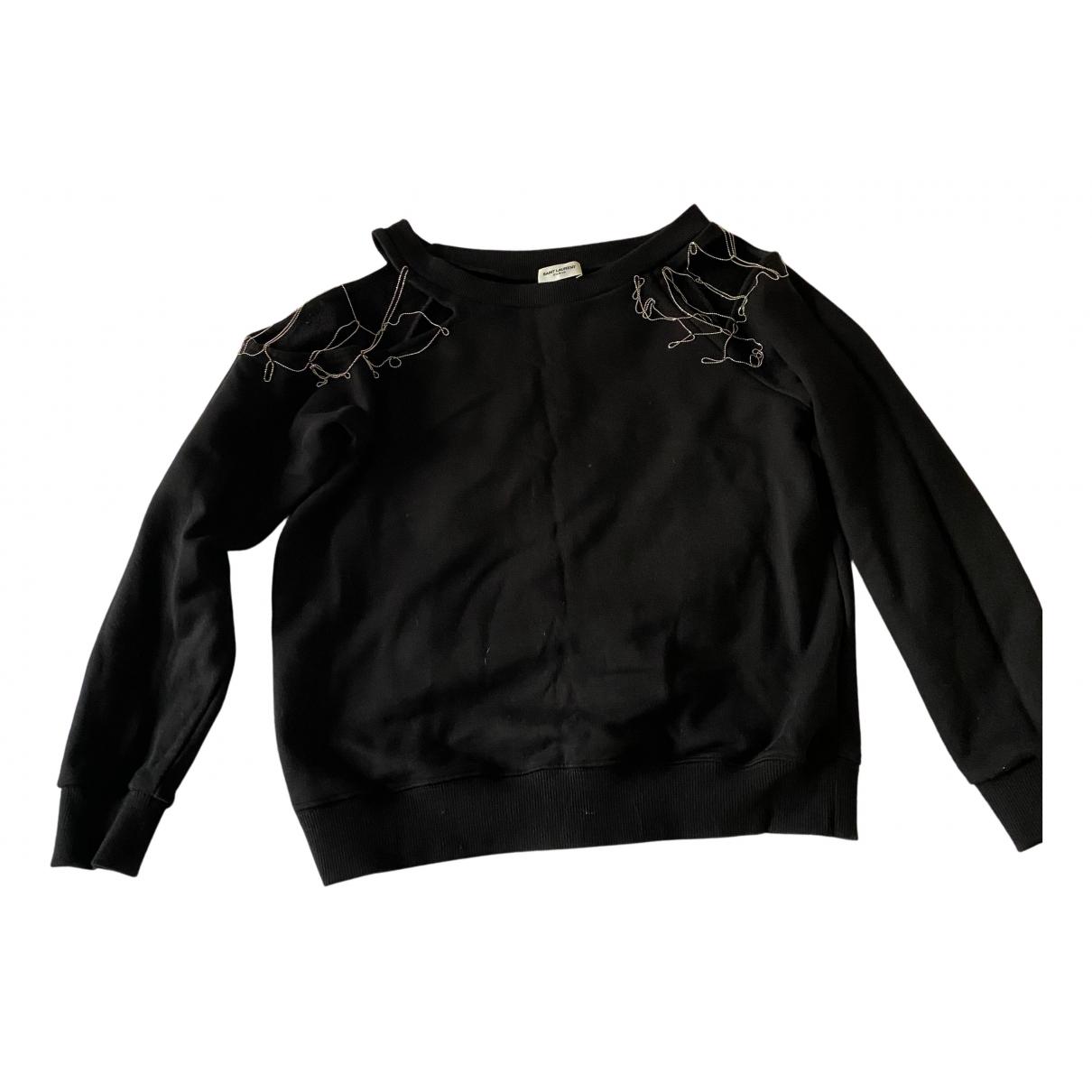 Saint Laurent N Black Cotton Knitwear for Women 38 FR