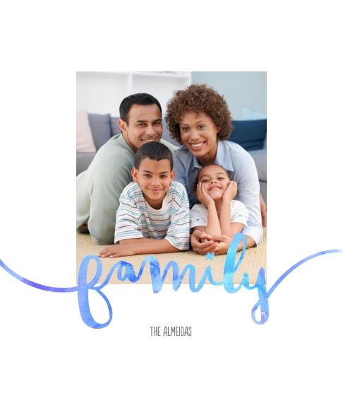 Family + Friends Framed Canvas Print, Oak, 8x10, Home Décor -FamilyWatercolors