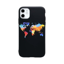 World Map Print iPhone Case