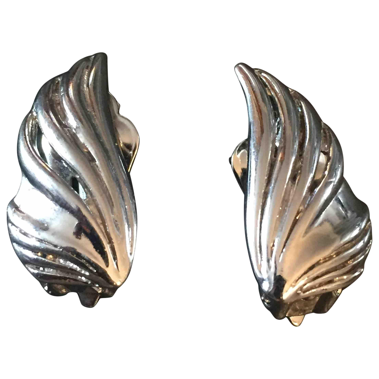 Non Signé / Unsigned N Silver Metal Earrings for Women N