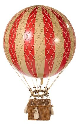 AP168R Jules Verne Balloon  Red with Rattan & paper Material  in
