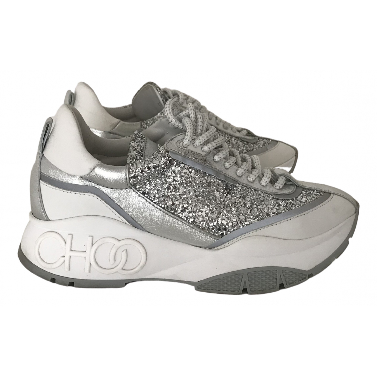Jimmy Choo \N Silver Glitter Trainers for Women 38.5 EU