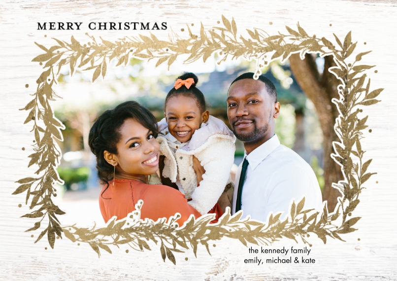 Christmas Photo Cards Flat Matte Photo Paper Cards with Envelopes, 5x7, Card & Stationery -Christmas Sparkling Foliage by Tumbalina