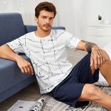 Schlafanzug mit Karo Muster