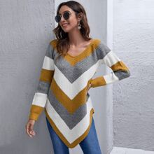 Hanky Hem Chevron Sweater