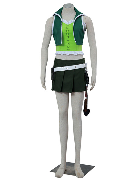 Milanoo Fairy Tail Lucy Halloween Cosplay Costume Green Version Halloween