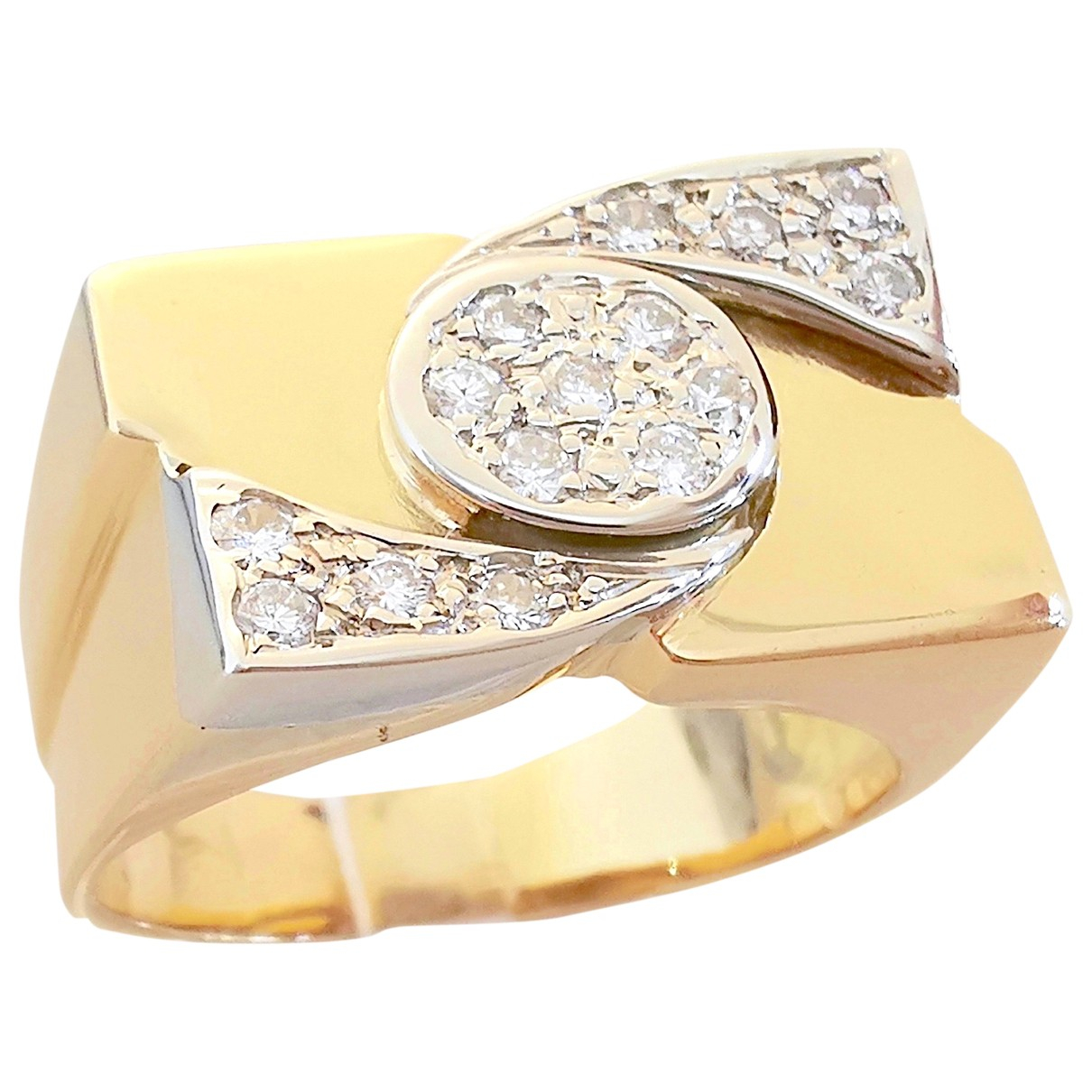 Non Signé / Unsigned Chevalières Yellow Yellow gold ring for Women 56 EU