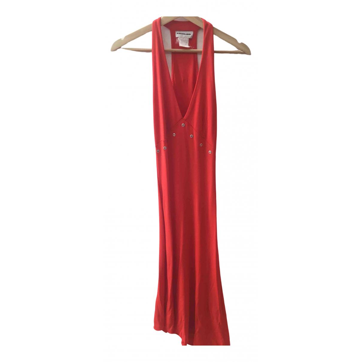 Mugler - Robe   pour femme - rouge